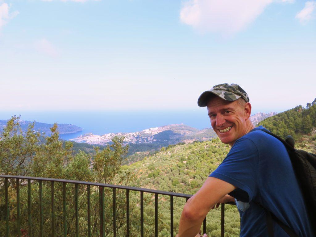 Mark at a lookout high above Port de Sóller