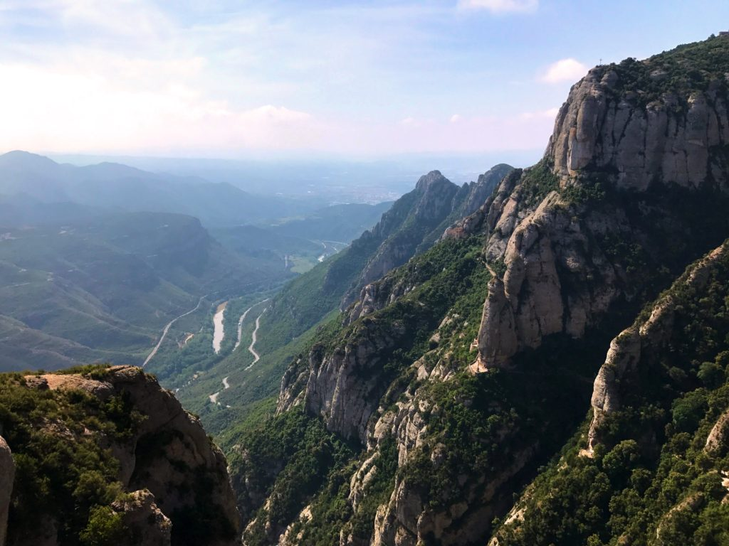 A view from Montserrat down towards Barcelona which allegedly you can see on a clear day