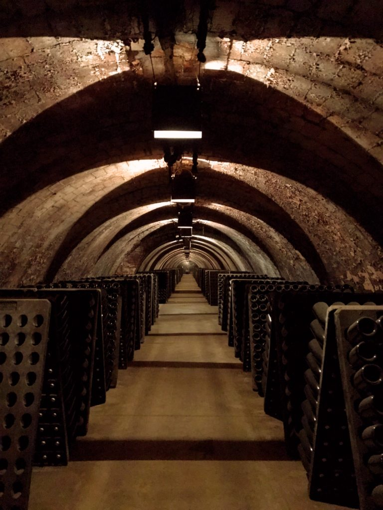 Our day trip out to Montserrat included a tour of the Pere Ventura winery. Mark & I have done a lot of wine tours over the year and we're more than a little jaded. There's only so many times I need to be shown the steel vats and the oak casks. This one was incredible, though. The architecture of the underground spaces where they store the cava (Spanish champagne) was really something, and we actually learned a lot about how it's made. Color us surprised and happy!