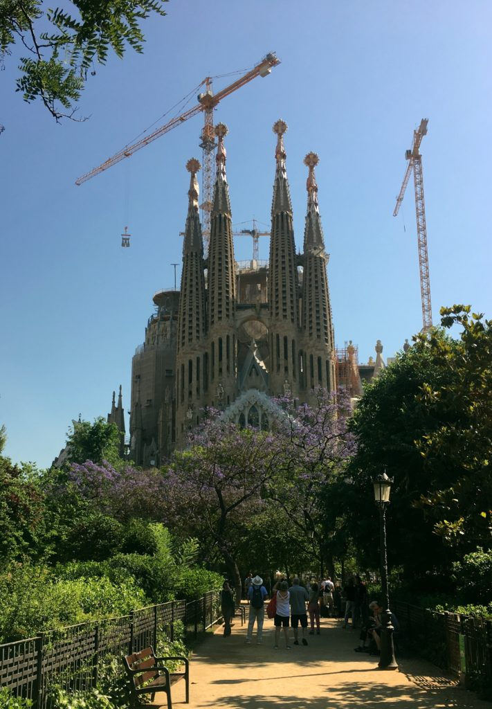 Another view of the Sagrada Familia. Oddly we have no pictures of the exterior from our 2014 visit, so now we're trying to document its growth from here on.