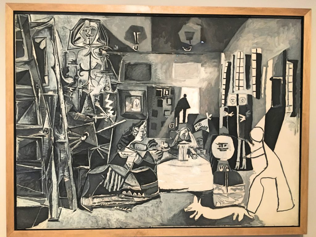 Barcelona's Picasso museum includes a big display of literally dozens of studies Picasso did of Las Meninas in 1957. Some of them recreated the whole work while others were just a little piece here or there. It was pretty cool to watch Picasso play with this over and over and over.