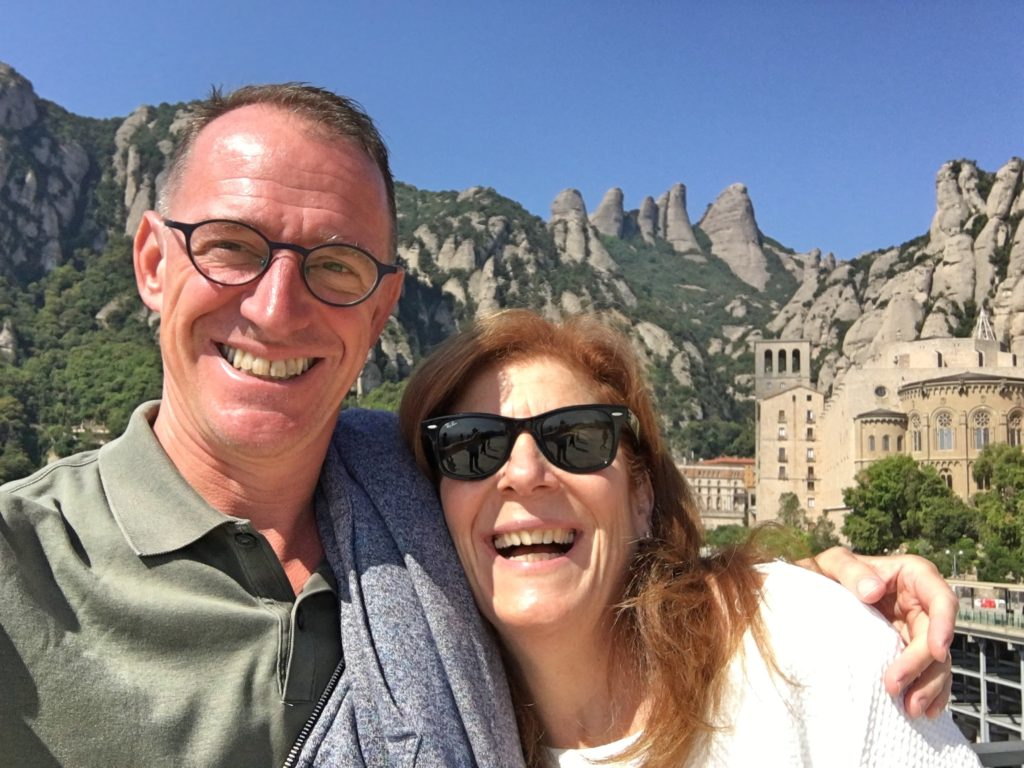 Mark & Lorraine, apparently having fun up on Montserrat