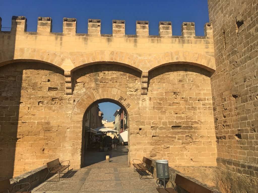 The medieval town walls have been largely restored and pretty much encircle the old town
